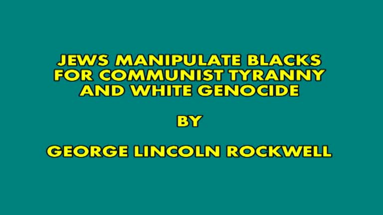 George Lincoln Rockwell this speech was in 1967 at UCLA.