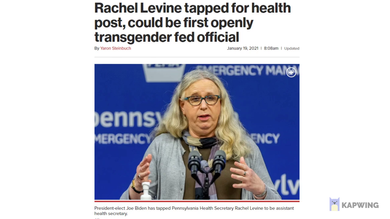 (((Levine))) is the first deranged tranny to be assistant secretary of health , honk honk , Americans will be in good hands , trust the plan