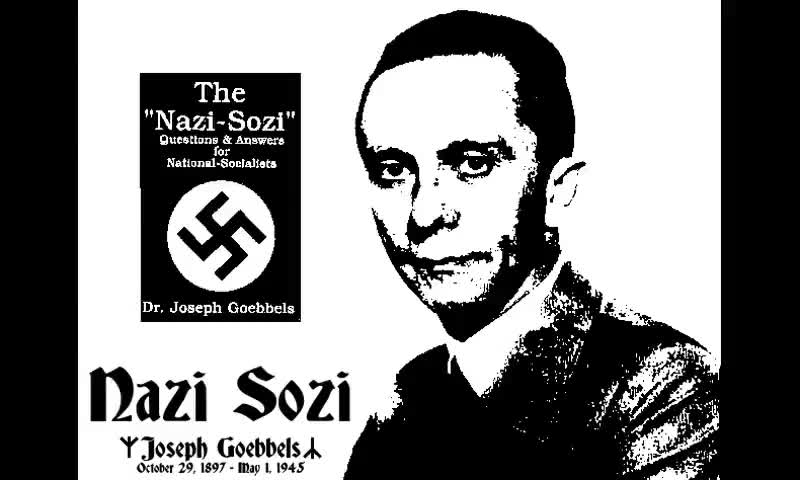 The Nazi Sozi by Joseph Goebbels (Audiobook)