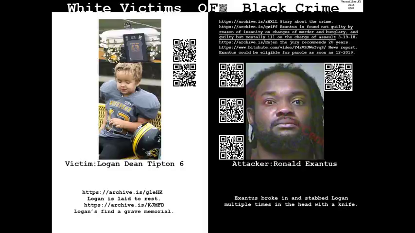 WHITE VICTIMS OF BLACK CRIME IN THE UNITED STATES OF AMERICA - THIS IS WHITE GENOCIDE