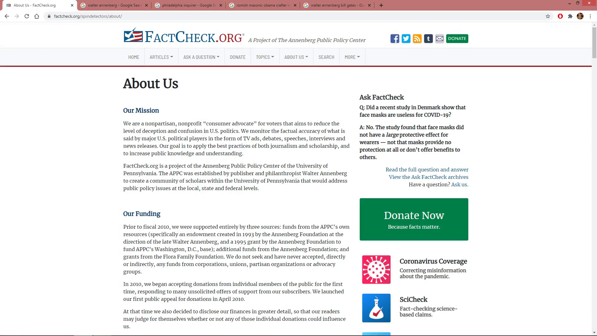 FactCheck.org Founded by Jewish Mason EXPOSED- by Matty D.