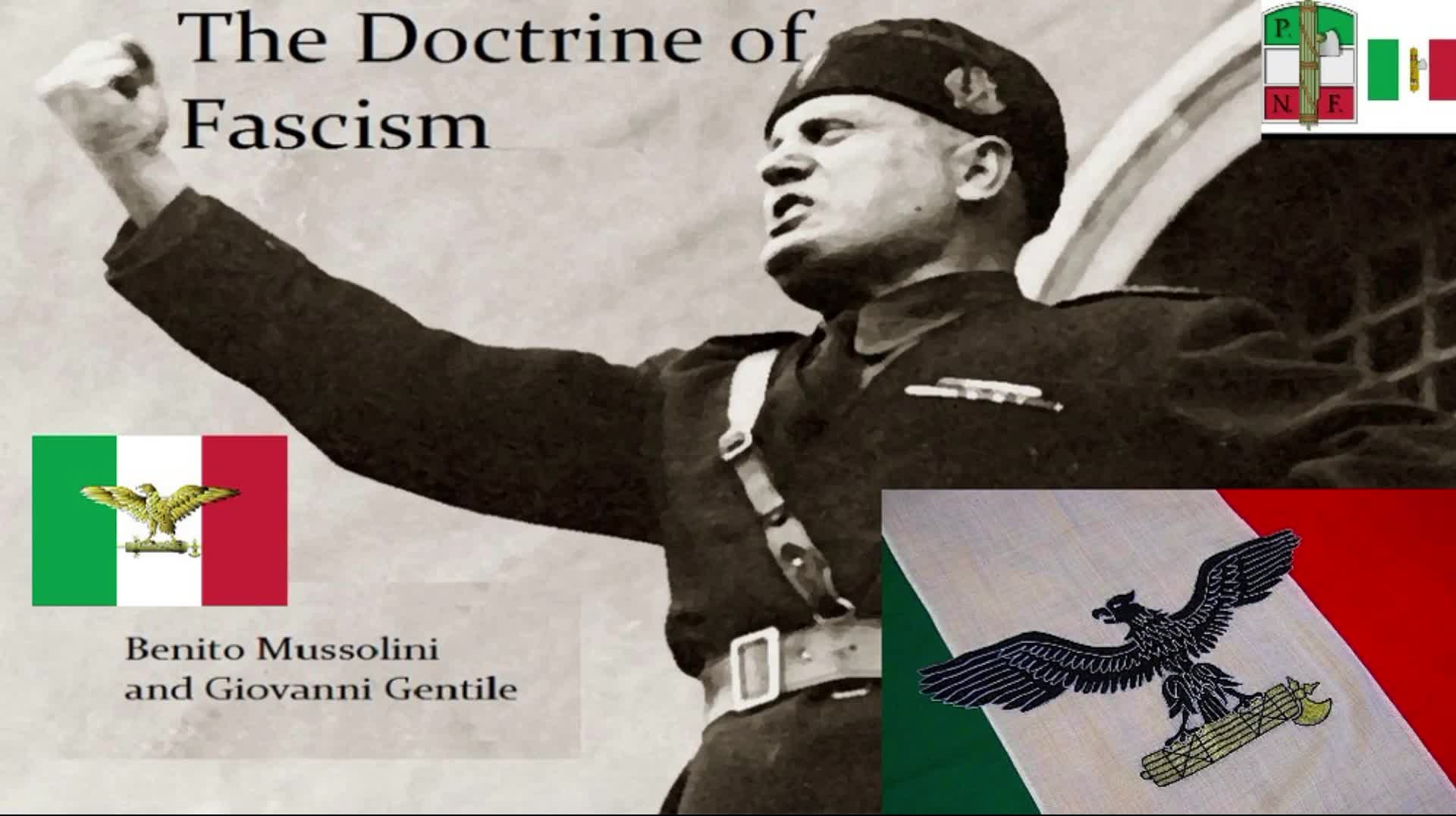 Doctrine Of Fascism by Giovanni Gentile and Benito Mussolini (1927)
