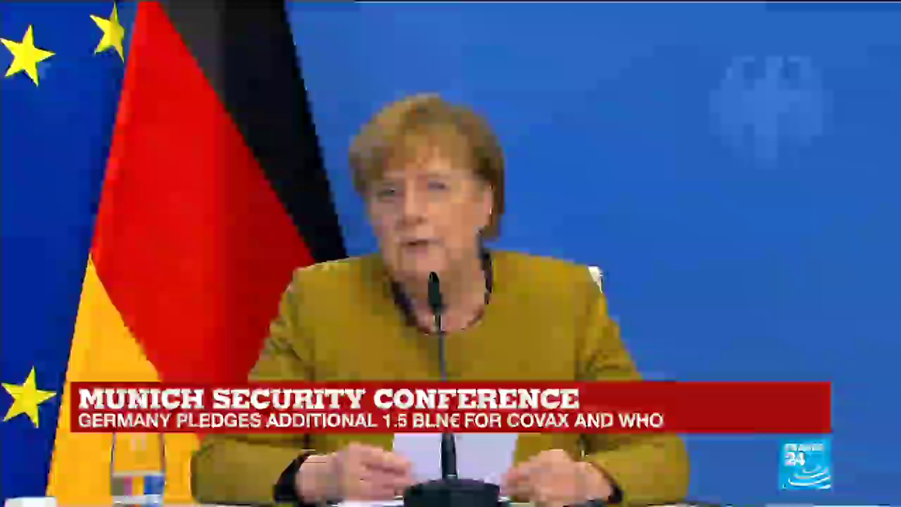 "Merkel says the ""pandemic"" wont end till everybody in the world is ""vaccinated"""