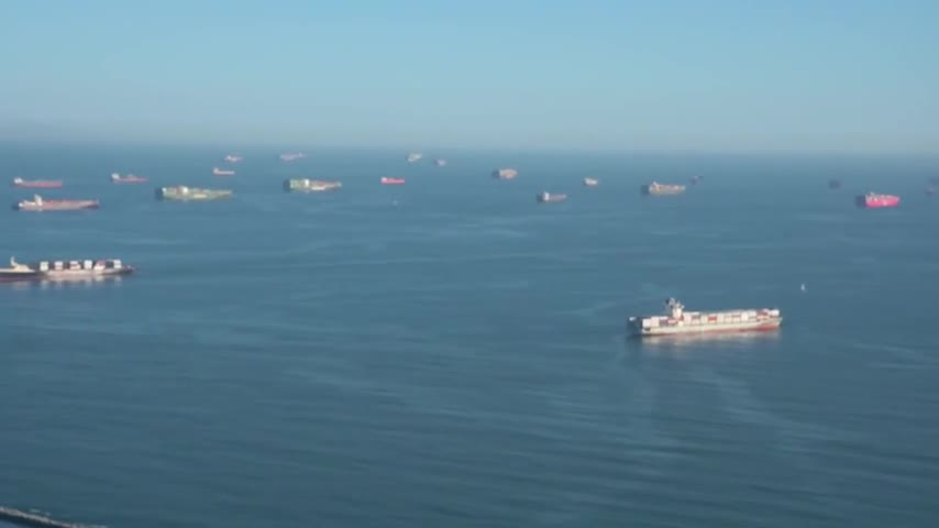 1000 container ships awaiting entry approval