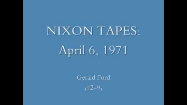 The Nixon Tapes (1971-1973)