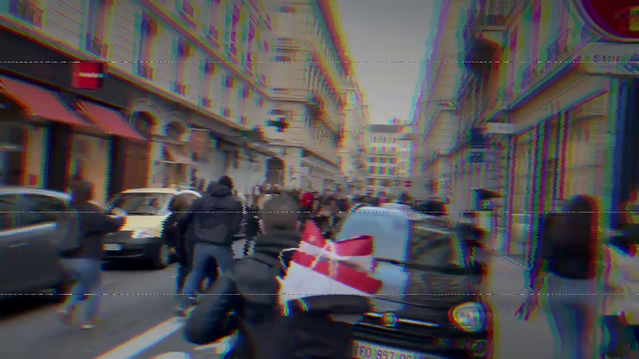 Short video of one fight between Youth Lyon and antifas, the antifas are hit and they run away