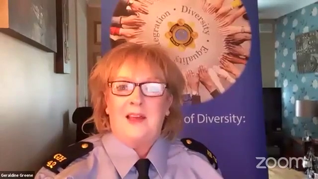 """This is Garda Geraldine Greene from the """"Diversity and Integration unit"""" , honk honk"""