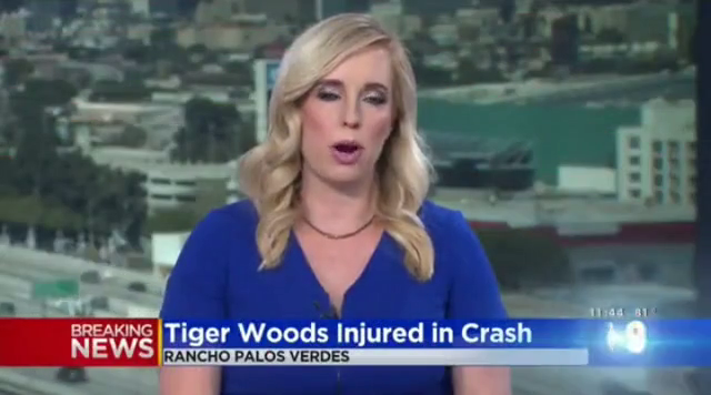 "..""We want to interrupt your programming"" - Tiger Woods Crash"