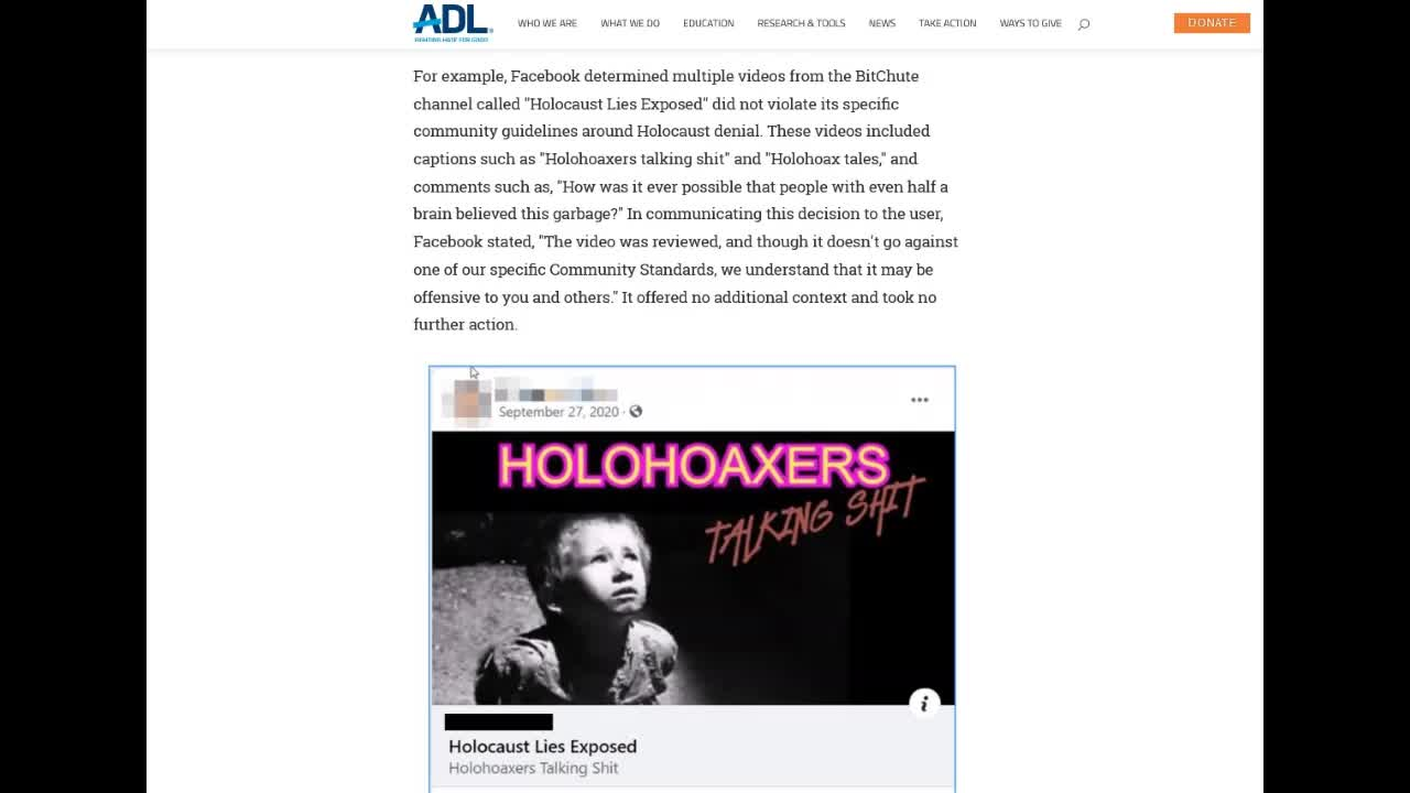 ADL want to shut down Holohoax Tales