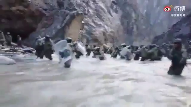 Chinese media releases video of Galwan valley clash between armies of China and India.