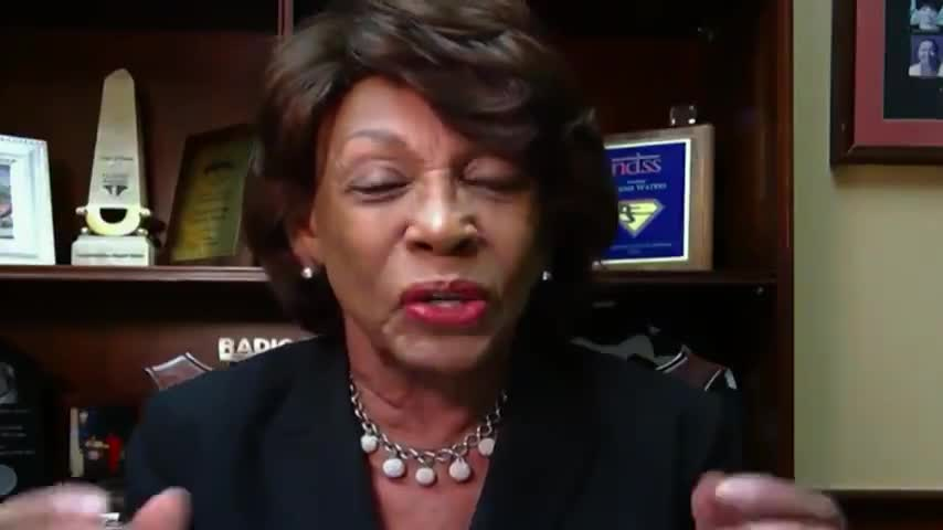 Maxine Waters Says Trump Should Be Charged With Premeditated Murder. 75M Trump supporters would be next in the firing line.