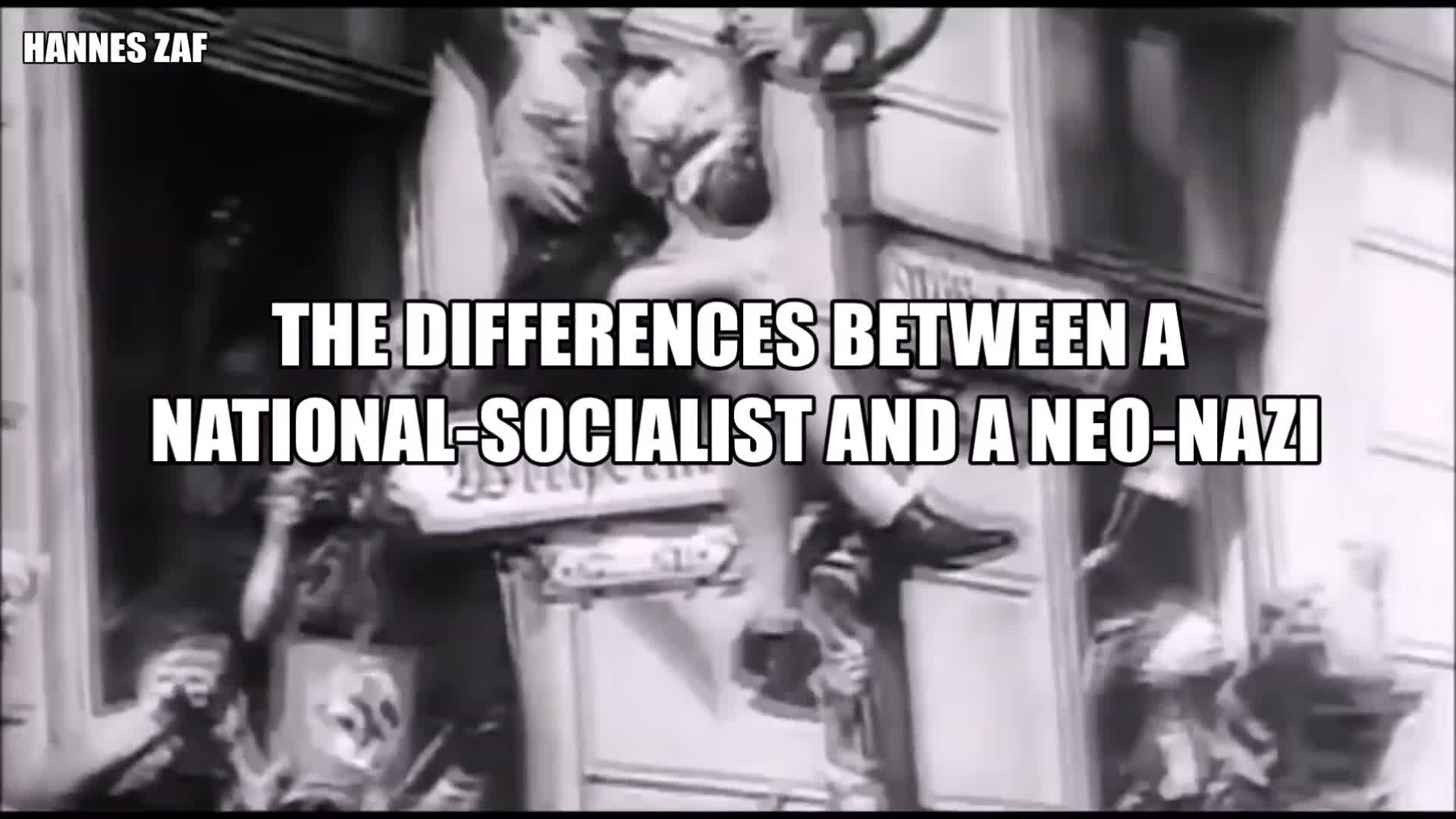 The differences between a National Socialist and a Neo-Nazi