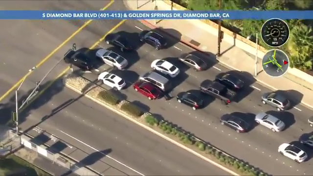 Pursuit suspect leads authorities on chase across Inland Empire before ramming into numerous cars