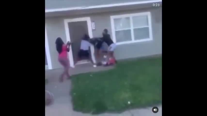Niggers stomping pregnant Hispanic and 5 year old girl