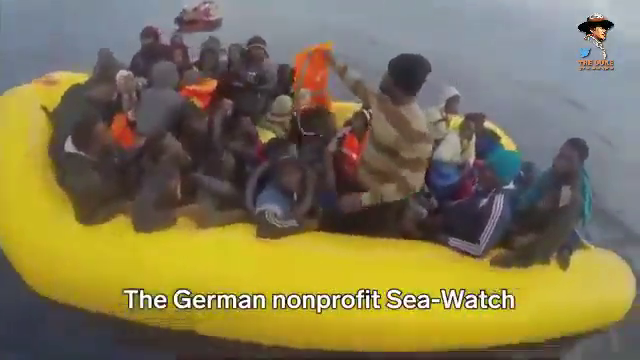 "Video from the TERRORIST NGO ""Sea Watch"" smuggling invaders from Africa to Europe, they ""found"" over 300 people in the mediterranean"
