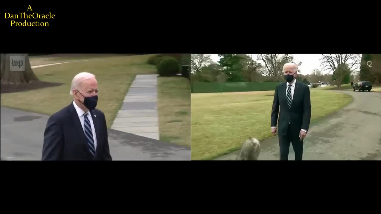 "apparently the flattards fell for the jew lies that the biden video was faked... here in the real world you realise its just an optical illusion and even if someone faked this video you cant just ""accidentally"" make the background move into the foreground and back by accident."