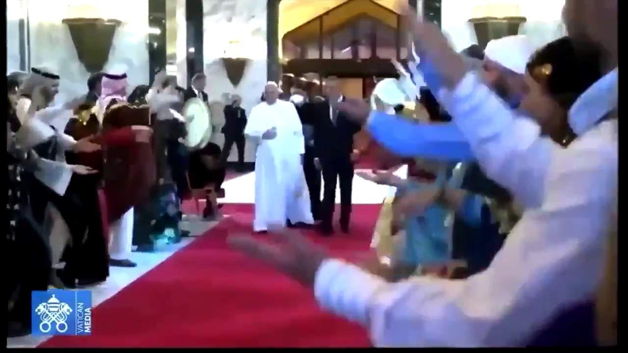 Here comes Lord Satan! Pope in Baghdad, Iraq! I guess Satan is immune to Covid!