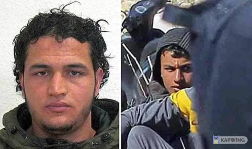 DO YOU KNOW THIS FACE? His name is Anis Amri, a Tunisian who embarked to Lampedusa, southern Italy in 2011. Amri carried out a terrorist attack on a Berlin Christmas market in December 2016, killing 12 people and injuring more than 70. The ones helping him to reach Europe, were one of the many sea cabs organizations acting in the Mediterranean, in this case, Open Arms. Open Arms indirectly helped a terrorist attack to happen in European soil. OPEN ARMS IS A TERRORIST ORGANIZATION