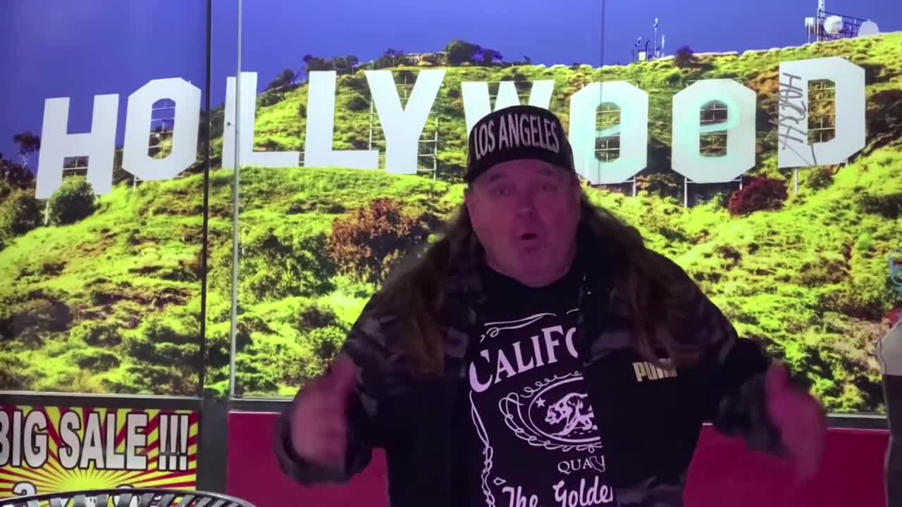 Homeless in Hollywood on the walk of fame