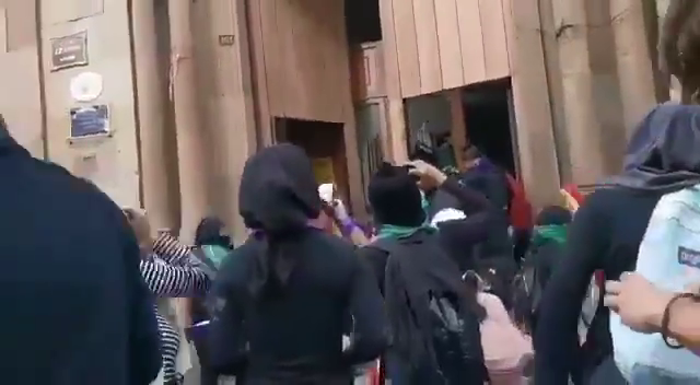 Mar 7-  Feminists scums/left-wing radicals destroyed the Catholic Temple of San Cosme Oaxaca, Mexico