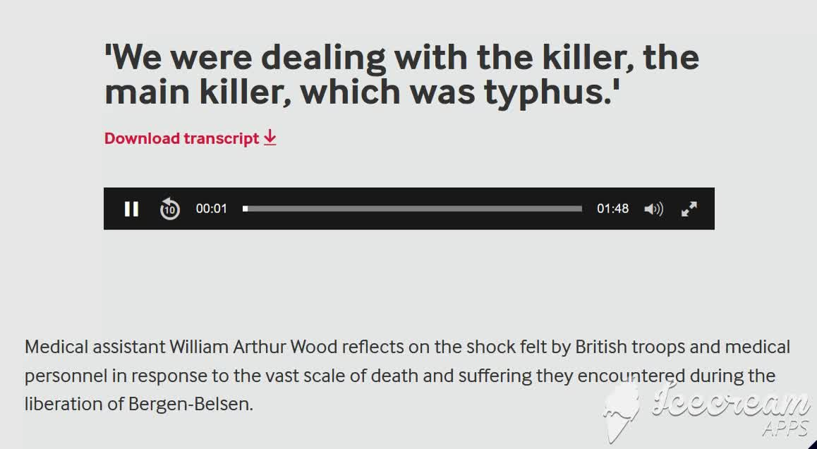 British Medic William Arthur Wood - THE MAIN KILLER WAS TYPHUS