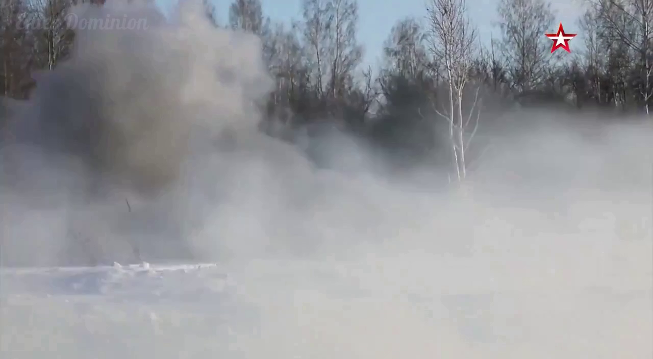 Russia clearing safe passage of armored vehicles through minefields