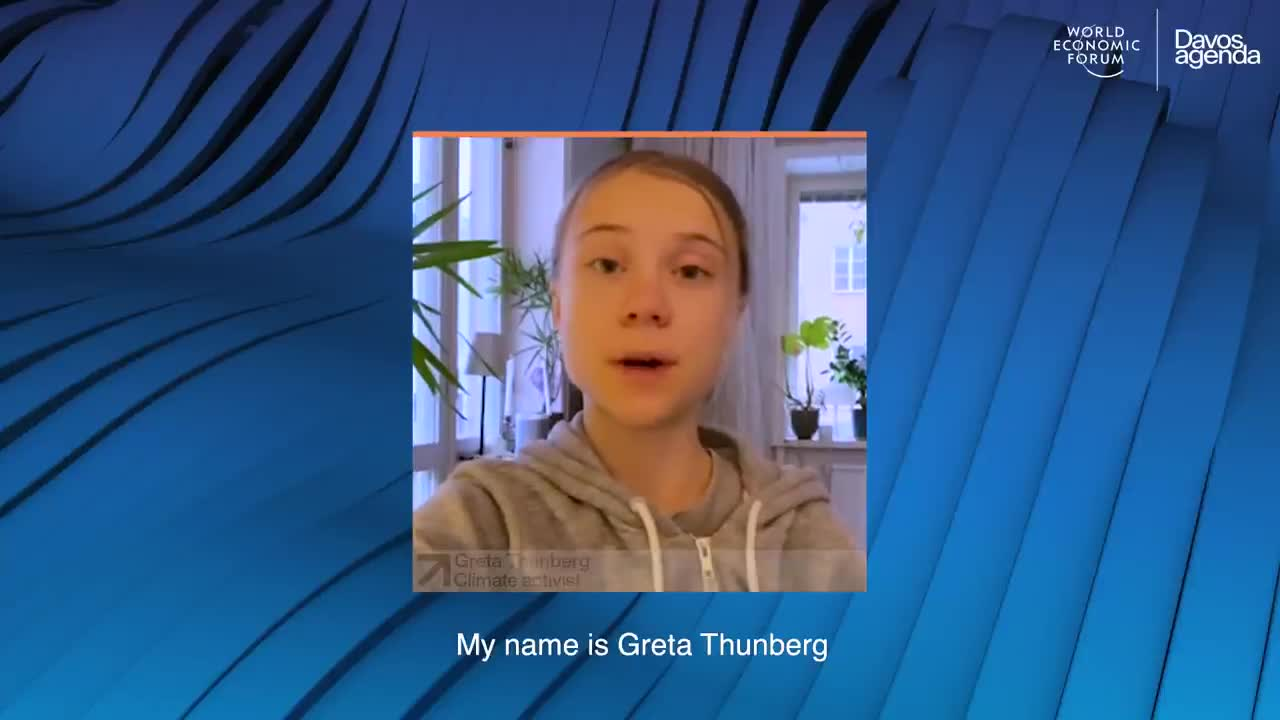 "The Root💰of ALL Evil: WEF says, ""Greta Thunberg's message to the Davos Agenda DAVOS AGENDA 2021"""