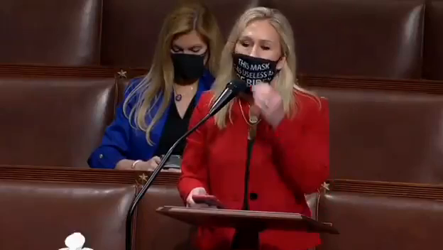"""this mask is as useless as Joe Biden""! lmao"