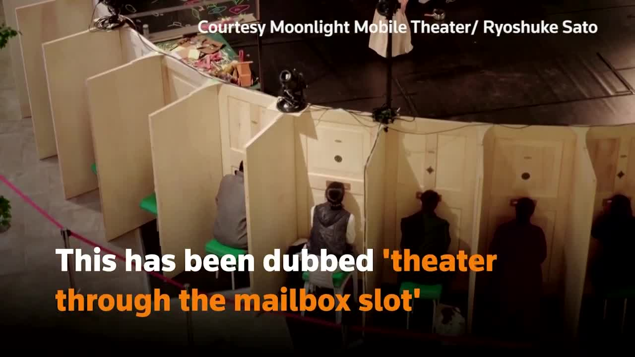 Just when you think insanity has reached its zenith! Japan's 'mailbox' theater!!!