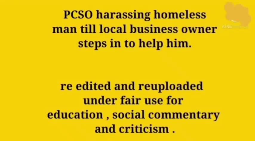 Homeless Man Harassed by PCSO