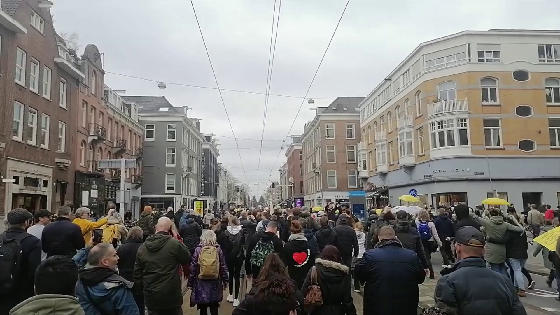 Round Up of Protests - Amsterdam, Germany, London.