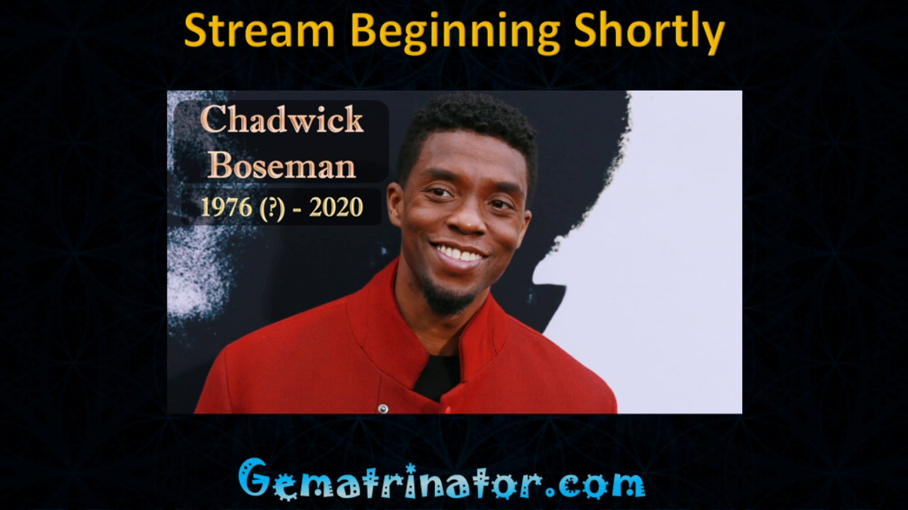 Chadwick Boseman Dies at 43 (or 42)? - Gematria