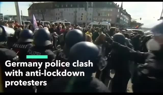 20,000 people turned out for protests in KASSEL, Germany