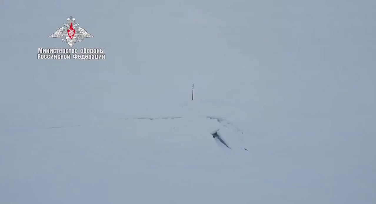 Russia Mar 26: 3 nuclear submarines surfaced under the ice & fired torpedoes!!