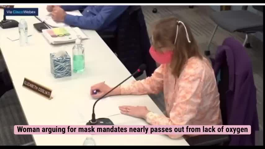 STUPID WOMAN ARGUING FOR MASKS ALMOST PASSES OUT FROM WEARING A MASK