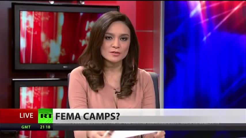 FEMA camps being discussed on RT News in 2013.