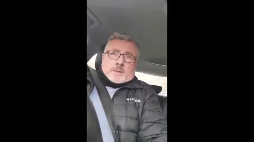 Philip Dwyer Questions Irish Police at Covid Checkpoint