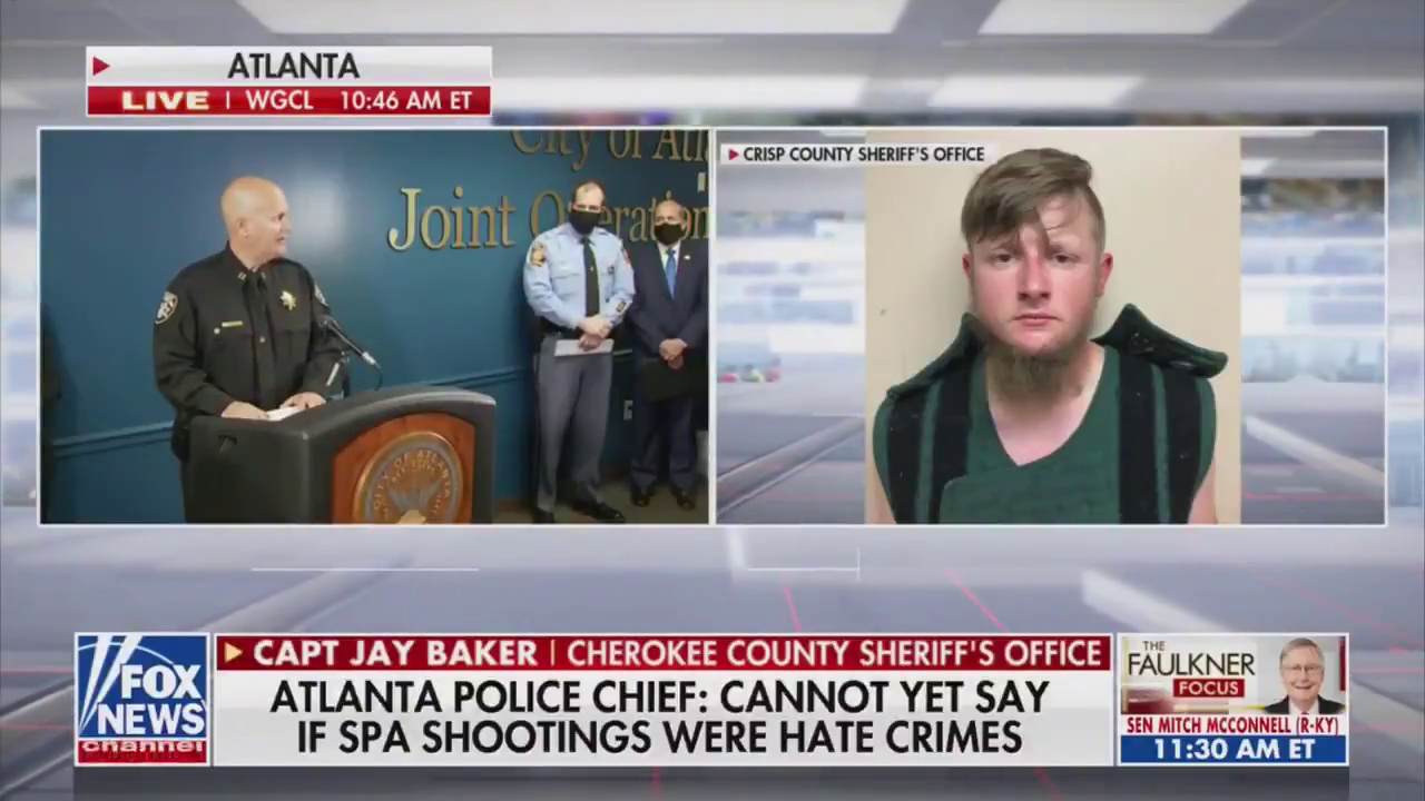 "Cherokee County Sheriff's Office Capt. Jay Baker on gunman who killed 8 people at Atlanta-area spas: ""Yesterday was a really bad day for him and this is what he did."""