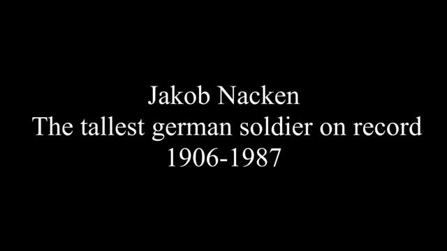 The tallest soldier in the German Army during WW2