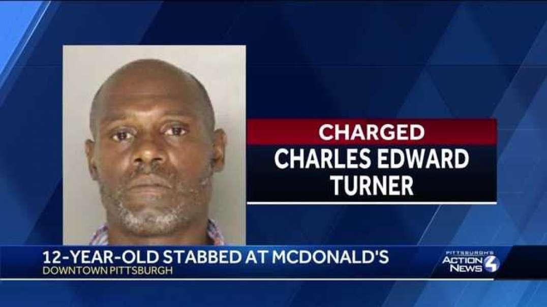 An inhuman lowlife trash Stabs Random White 12 yr boy In The Neck At McDonald! Its Time!!!