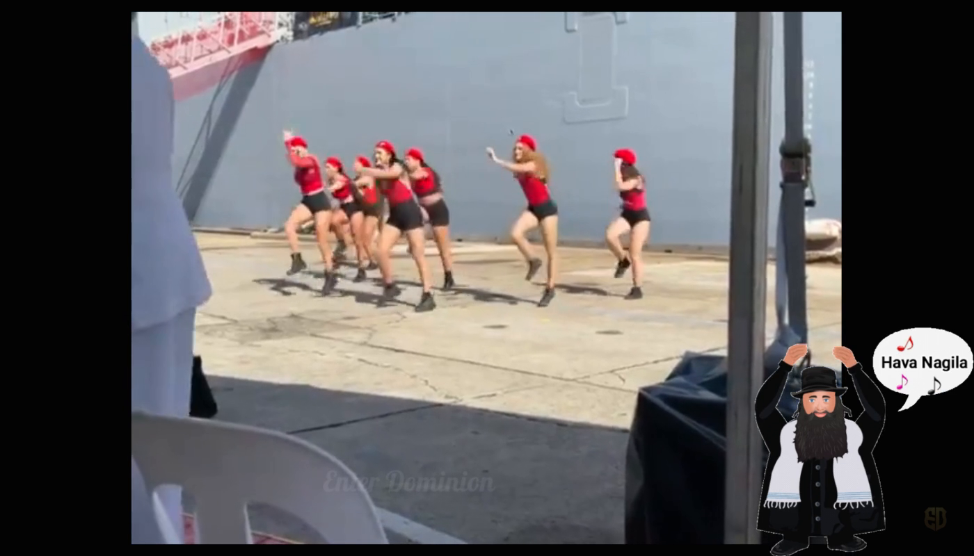 Australian Navy organize this incredible display of twerking as the HMAS docked into Sydney! smh