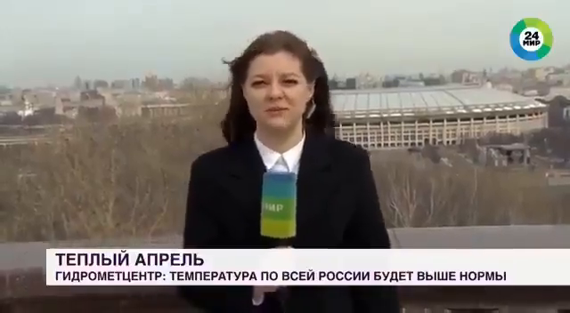 A dog in Russia grabbed the reporter's microphone and ran away during a live broadcast