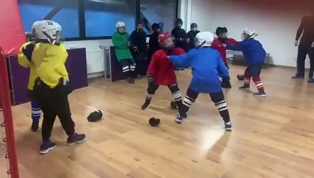 Russian Jr Team learning Hockey! fucking Russkies! :)