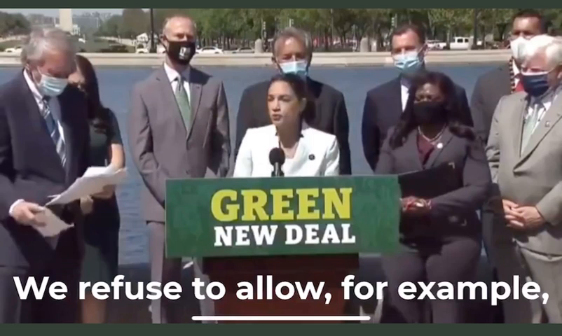 AOC officially re-introduces The Green New Deal.