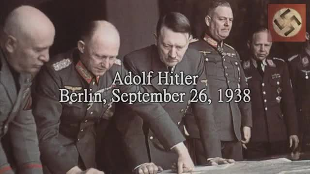 Hitler Speech Warning Czechoslovakia