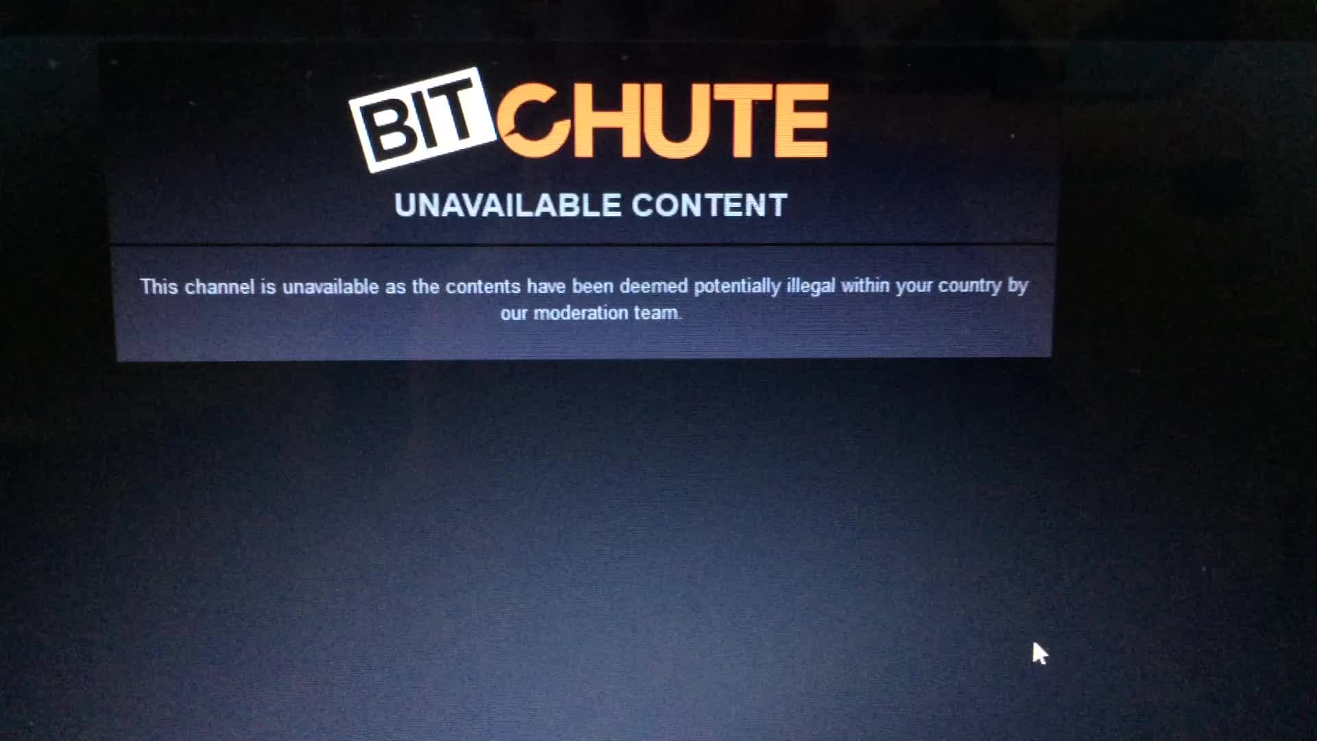 Bitchute censorship 2nd channel/1sub/3videos. BANNED!