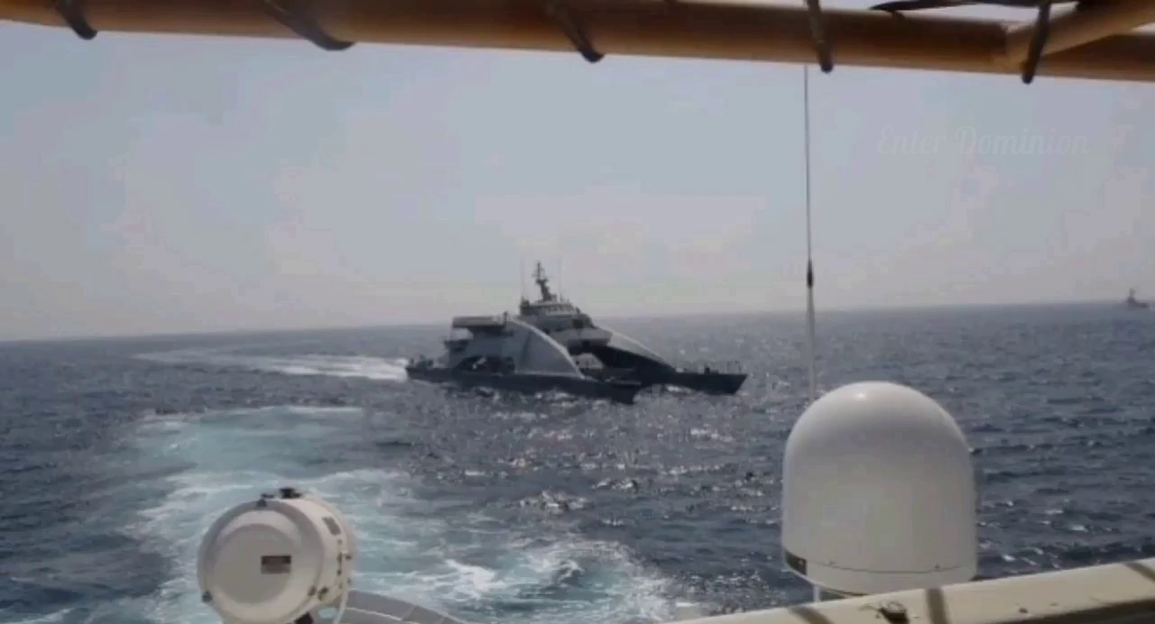 The US Navy has released footage of an April 2 incident in the Persian Gulf