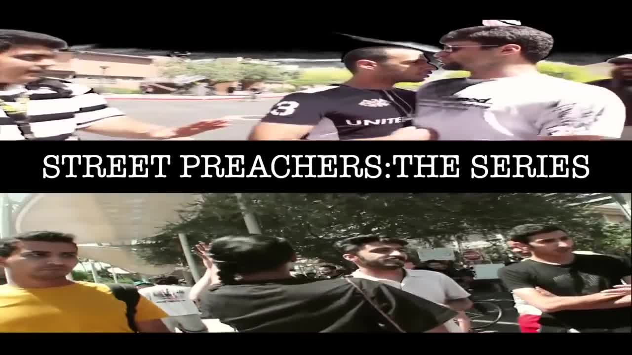 STREET PREACHERS COLLIDE WITH MUSLIMS