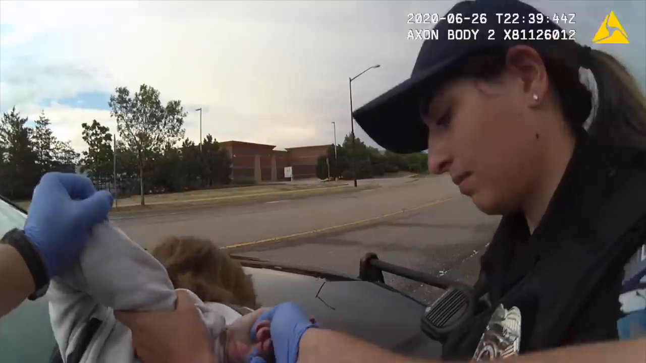 Colorado officers laughing as they watch video of them body-slamming 73-year-old woman