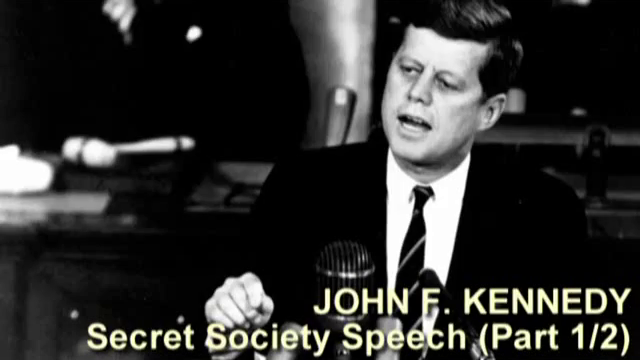 John F Kennedy Secret Society Speech (Complete, Parts 1 & 2)